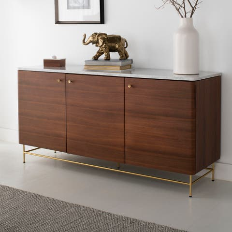 "Safavieh Couture Channing 3 Door Sideboard - Natural / Gold - 60.2"" x 18.1"" x 30"" - 60.2"" x 18.1"" x 30"""