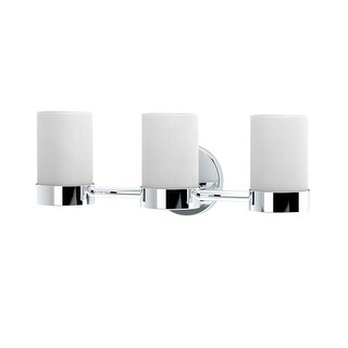 """Gatco 163-TRIPLE Glam 19-1/2"""" Wide 3-Light Vanity Light with Shade - n/a"""