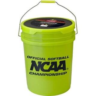 Rawlings Sporting Goods Softball Bucket and 18 Softballs (Optic Yellow)