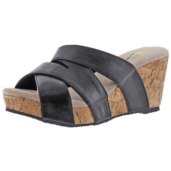 Volatile Leona Women's Slide Cork Wedge Sandals