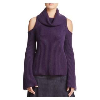 Elie Tahari Womens Torrence Turtleneck Sweater Cashmere Open Shoulder