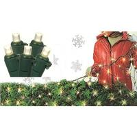 4' x 6' Warm White Wide Angle Net Style LED Christmas Lights - Green Wire