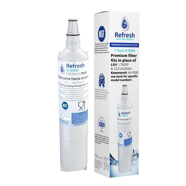 3 Pack Refrigerator Water Filter for KENMORE 9990 FML-2 5231JA2006A LG LT600P