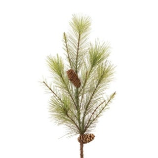 """Pack of 12 Green Mixed Pine w/Pine Cones Artificial Christmas Floral Sprays 26"""""""