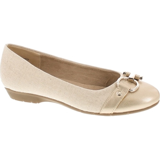 c61d4a79fe53 Shop A2 By Aerosoles Women s Ultrabrite Ballet Flat - gold combo - Free  Shipping On Orders Over  45 - Overstock - 20908606