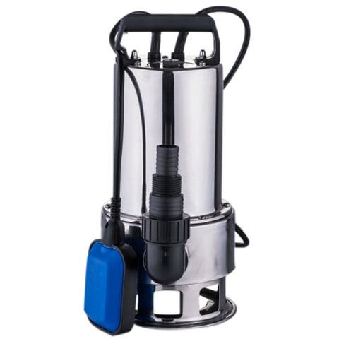 1100W 16000L/H Stainless Steel Water Submersible Pump Silver