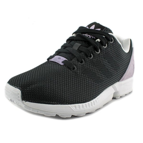Adidas ZX Flux Weave Women Round Toe Canvas Black Sneakers