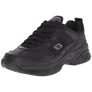 Skechers for Work Men's Soft Stride Mavin Athletic Oxford, Black