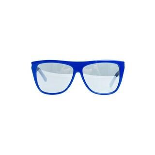 Saint Laurent Women's SL1 Blue Frame Mirrored Lense Sunglasses