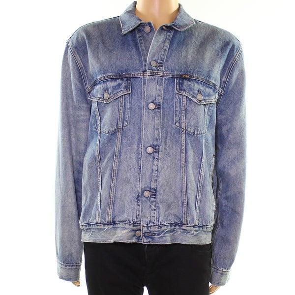 058829635 Shop Polo Ralph Lauren Blue Mens Size Small S Trucker Jean Jacket - Free  Shipping Today - Overstock - 28371980
