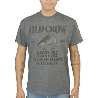 Jim Beam Bird Old Crow Men's Charcoal T-shirt (Option: 2xl)