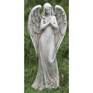 "2 Joseph's Studio Sleek Contempo Praying Angel Outdoor Garden Statues 14.75"" - Brown"