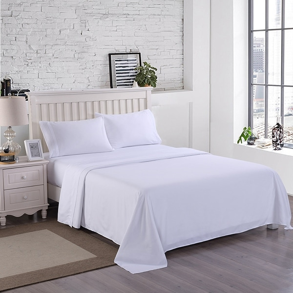 4 Piece Fitted Bed Sheet Set Egyptian Comfort 1800 Count Deep pocket Sheets