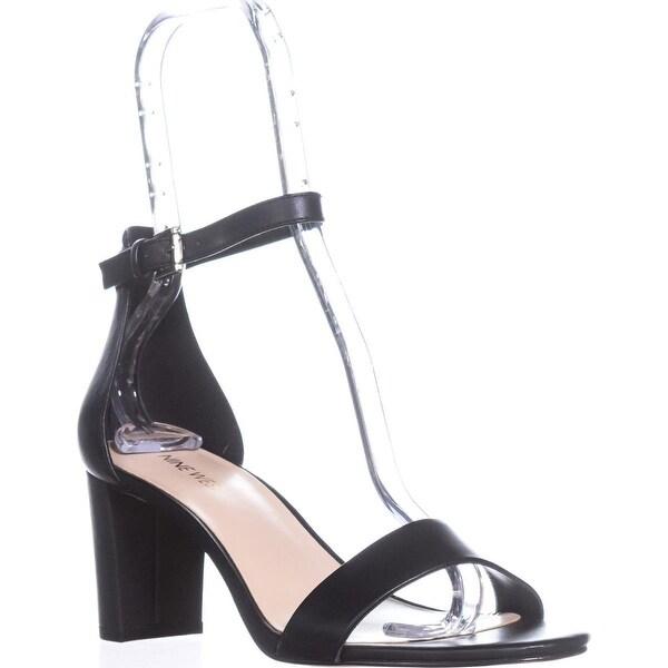 Nine West Pruce Ankle Strap Sandals, Black Leather
