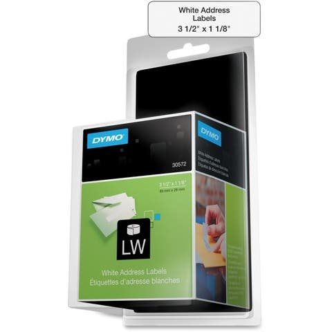 Dymo 30572 dymo labelwriter address permanent adhesive labels - 520 label(s) - White
