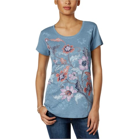 Style&Co. Womens Floral Graphic T-Shirt