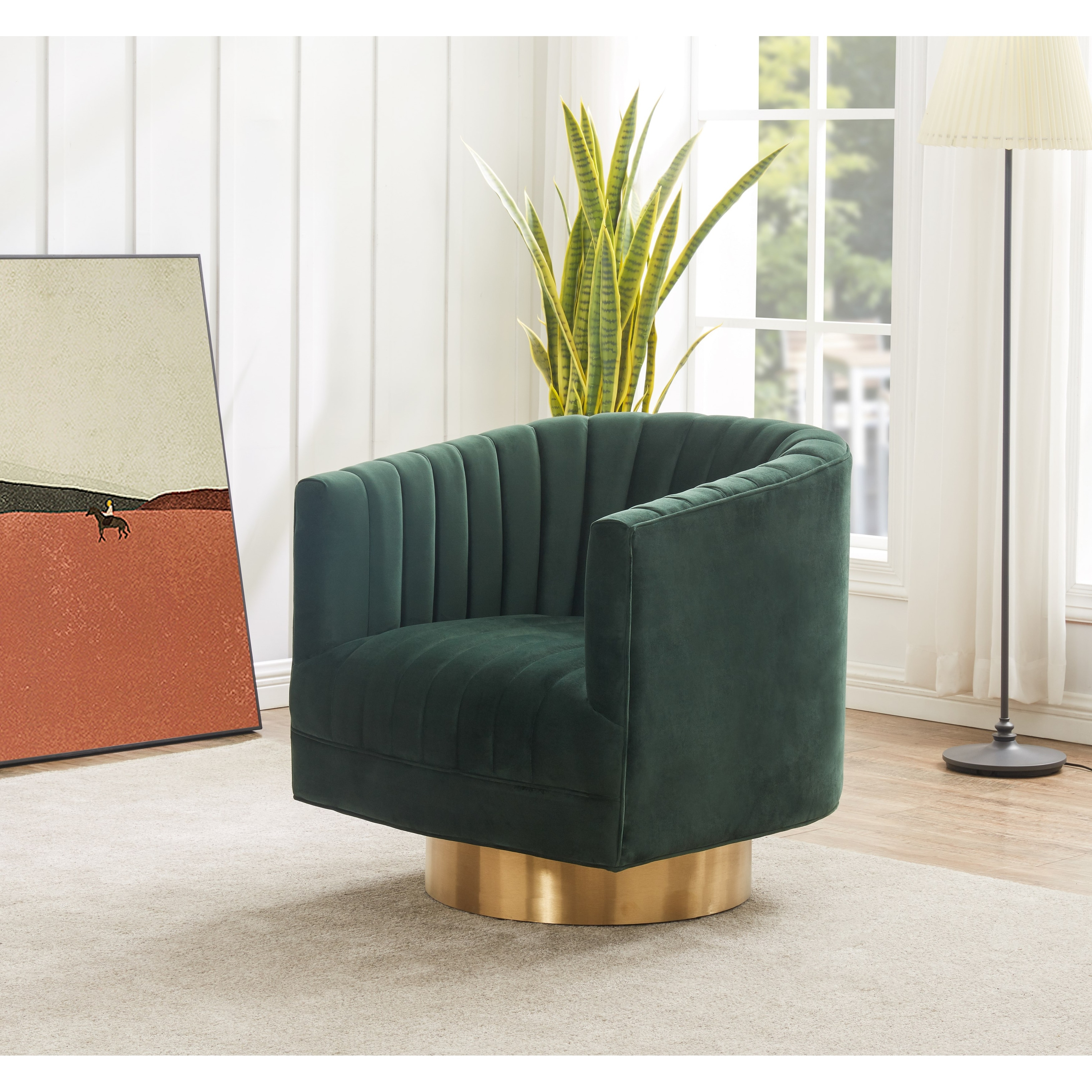 Safavieh Couture Josephine Swivel Barrel Velvet Chair 28 W X 31 L X 30 H On Sale Overstock 31227132 Forest Green Gold