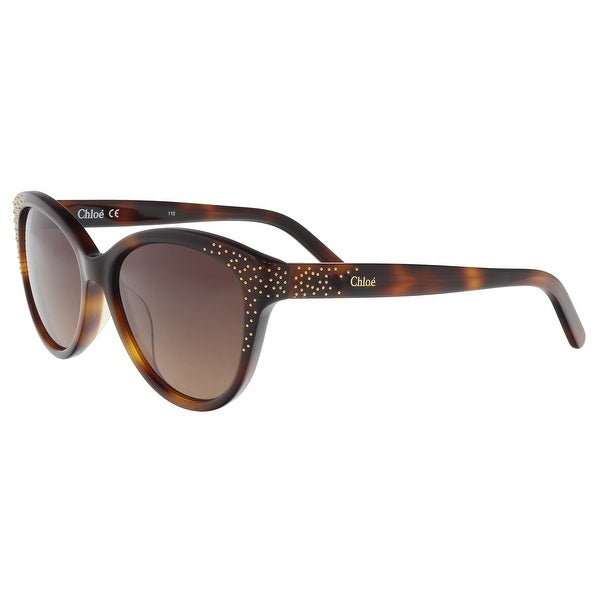 75cbf06131a Shop Chloe CE3605S 219 Tortoise Cat Eye Sunglasses - 50-15-130 ...