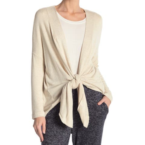 Bobeau Women's Tie Front Convertible Cardigan Sweater $25