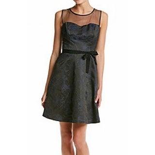 Jessica Simpson NEW Black Blue Women's Size 4 Sheath Shimmer Dress