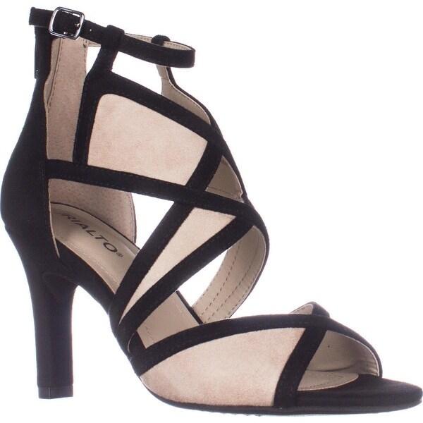 Rialto Ria Strappy Dress Heel Sandals, Black