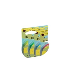 Lee 3-Line Removable Wide Highlighter Note Tape, 1/2 X 393 in, Green