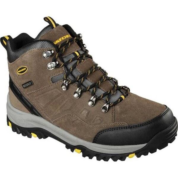 f06225890bd28 Shop Skechers Men's Relaxed Fit Relment Pelmo Hiking Boot Khaki - On ...