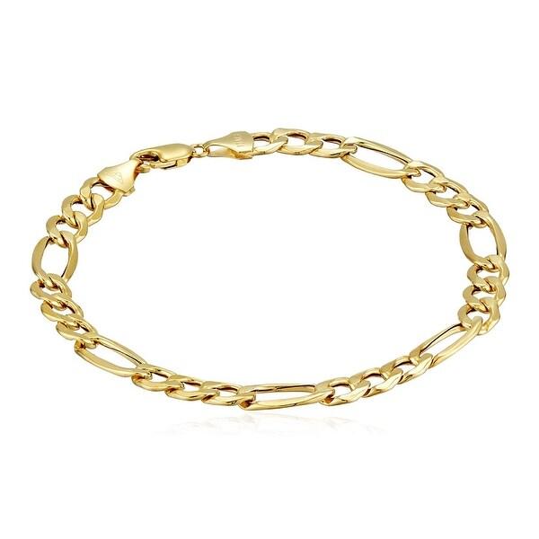 bec003c7b069e Eternity Gold Men's Figaro Chain Link Bracelet in 10K Gold, 8.5