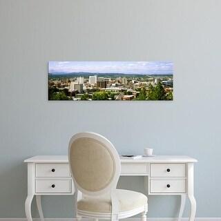 Easy Art Prints Panoramic Images's 'High angle view of a city, Spokane, Washington State, USA' Premium Canvas Art