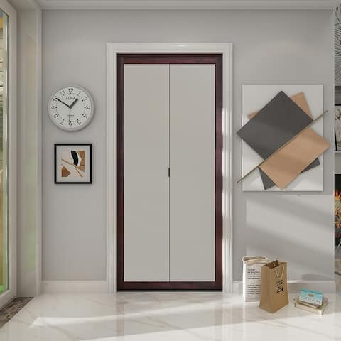 Colonial Elegance Fusion Plus Frosted Bi-Fold Chocolate 30 x 80.5 in.