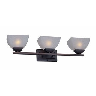 Forte Lighting 5700-03 3 Light Bathroom Vanity Light with White Linen Glass Shades