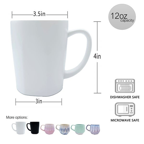 Homvare Porcelain Coffee Mug, Tea Cup for Office and Home Suitable for Both Hot and Cold Beverage - One Size Fist Most