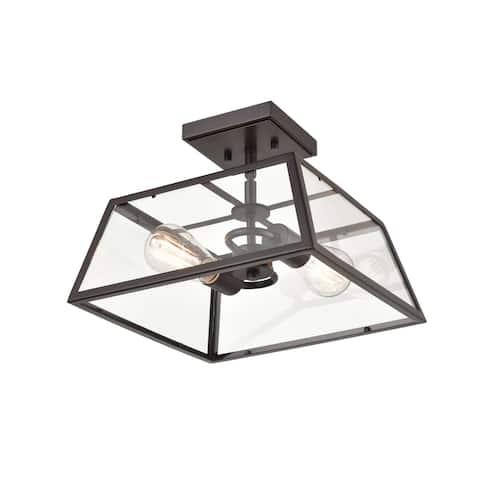 "Millennium Lighting 8022 Grant 2 Light 13"" Wide Outdoor Semi-Flush"