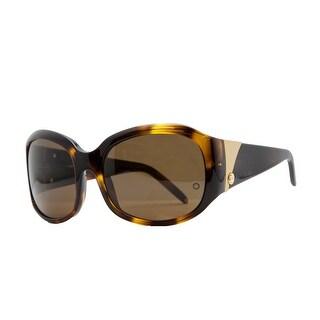 Mont Blanc MB 22S/S 096 Havana Oval Sunglasses - 56-18-135