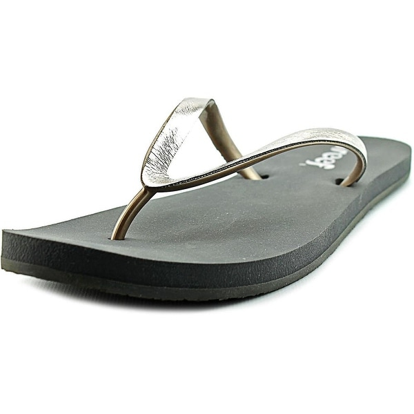 Reef Stargazer Shine Women Open Toe Synthetic Silver Flip Flop Sandal