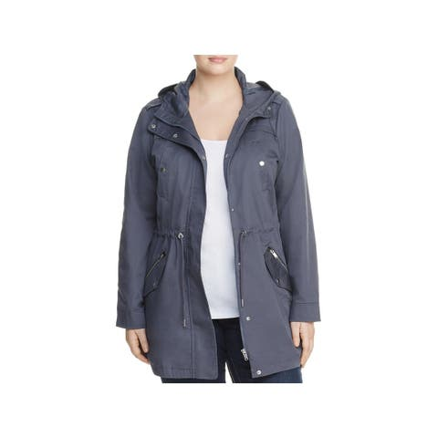 Junarose Womens Plus Parka Coat 4 Pocket Hooded