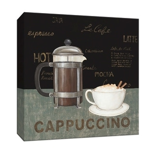 """PTM Images 9-151993  PTM Canvas Collection 12"""" x 12"""" - """"Cappuccino"""" Giclee Coffee, Tea & Espresso Art Print on Canvas"""