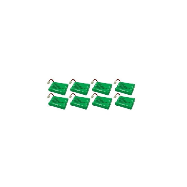 Replacement For VTech 89-1323-00-00 Cordless Phone Battery (600mAh, 3.6V, NiMH) - 8 Pack