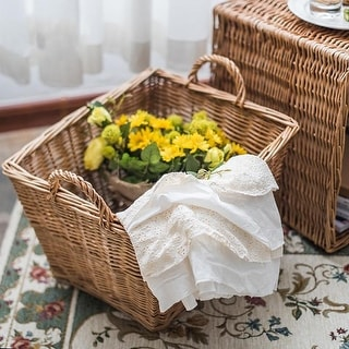 RusticReach Willow Basket Large Basket with Handles