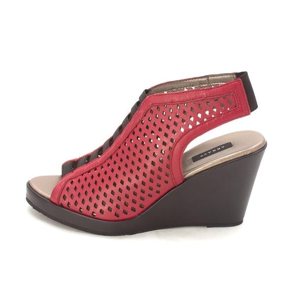 ARRAY Womens callista Leather Peep Toe Casual Platform Sandals