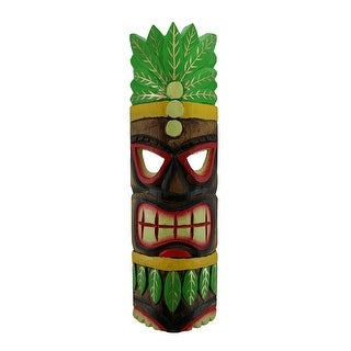 Hand Carved Island Style Wooden Polynesian Party Tiki Mask 20 Inch