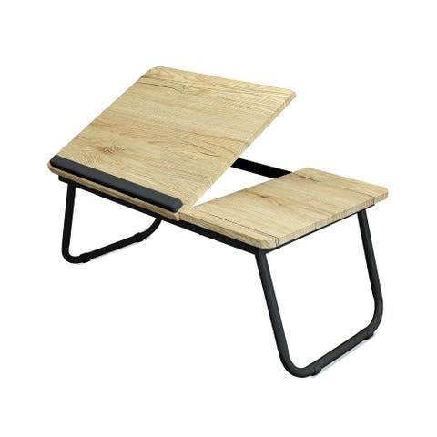 Designstyles Adjustable Laptop Table with Foldable Legs