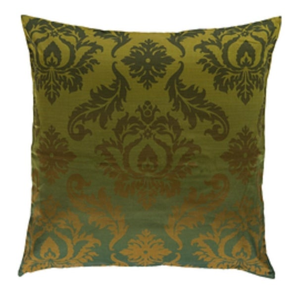 """22"""" Dark Forest Green and Kiwi Green Royalty Delight Decorative Throw Pillow"""