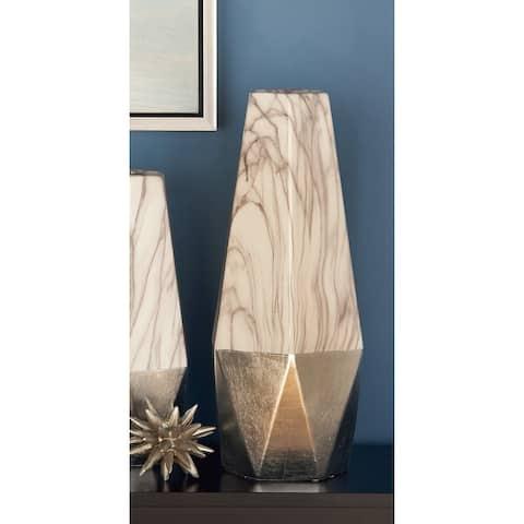 Carson Carrington Stoneware Contemporary Vase 18 x 7 x 8