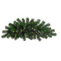 28 in. Pre-Lit Deluxe Windsor Pine Artificial Christmas Swag -