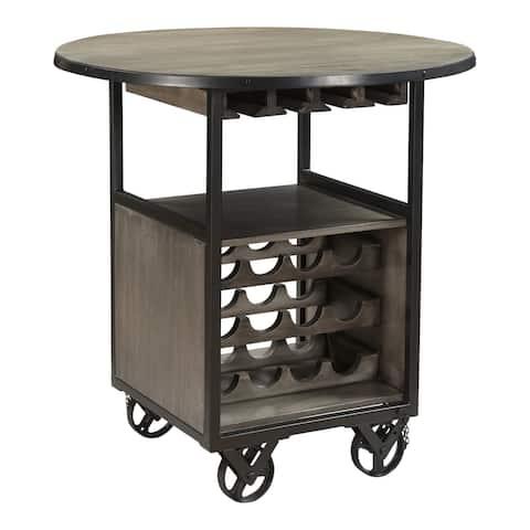 Aurelle Home Rustic Iron Framed Bar Cart