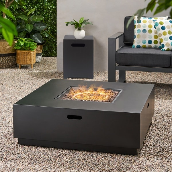 Wellington Outdoor 40-inch Square Firepit by Christopher Knight Home. Opens flyout.