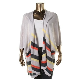 BB Dakota Womens Plus Striped Open Front Cardigan Sweater