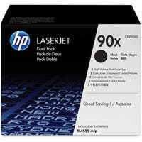 HP 90X High Yield Black Original LaserJet Toner Dual Cartridges (CE390XD)(Single Pack)