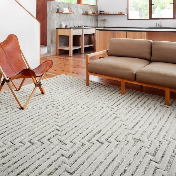 Alexander Home Vail Mid-century Modern Triangle Stripe Area Rug. Opens flyout.